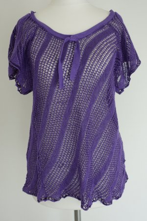 Mango Blouse dark violet cotton