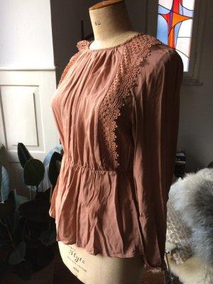 Mango Bluse mit Etikett, Gr. S, tolle Farbe und Details, NEU