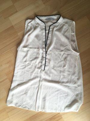 MANGO Bluse Oberteil Gr. XS / 34 weiß schwarz