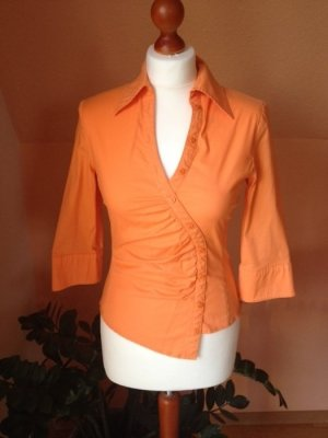 Mango Bluse, Orange, Gr. S, asymmetrisch, TOP Zustand!