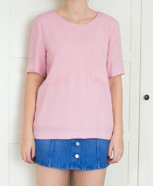Mango Bluse preppy oversize blogger rosa pink NEU