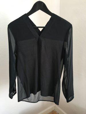 Mango Bluse schwarz Lace Größe XS