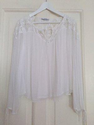 Mango Suit Blouse en dentelle blanc fibre synthétique