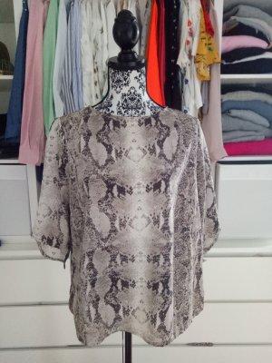 Mango Bluse Top Shirt Snake Schlange Mango L 38 40