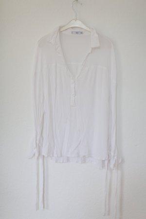 Mango Bluse XXL Sleeves Weiß Gr. S Blogger Vintage Stil