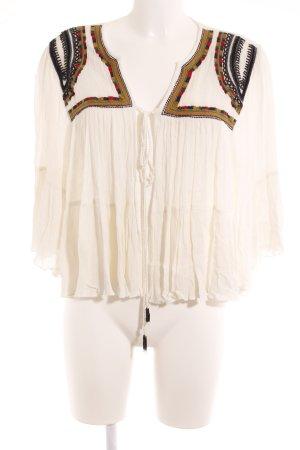 Mango Blouse Jacket Aztec pattern Boho look