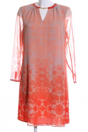 Mango Blusenkleid rot-hellgrau Blumenmuster Elegant