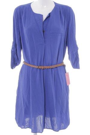 Mango Blusenkleid blau Boho-Look