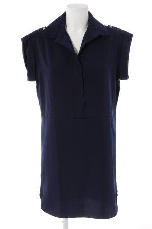 Mango Blusenkleid dunkelblau Elegant