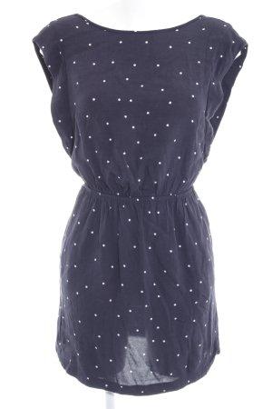Mango Blusenkleid dunkelblau-weiß Punktemuster Casual-Look