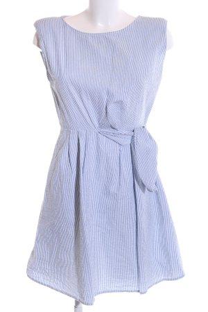 Mango Blusenkleid blau-weiß Casual-Look