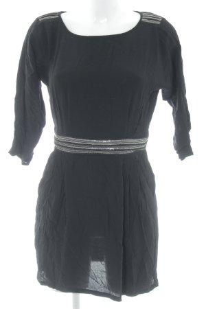 Mango Blusenkleid schwarz Elegant