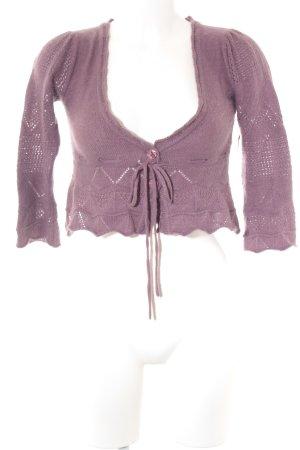 Mango Boléro gris lilas motif tricoté lâche style décontracté