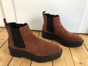 Mango Platform Booties multicolored leather