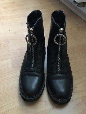 Mango Korte laarzen zwart-zilver