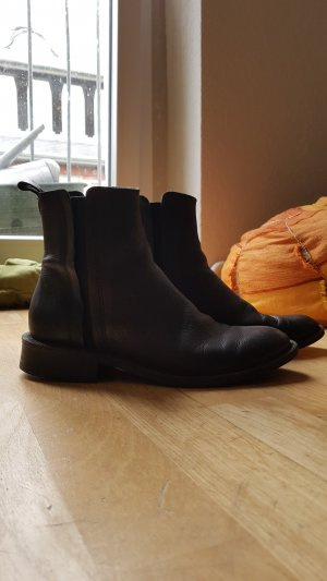 Mango Chelsea Boots black leather