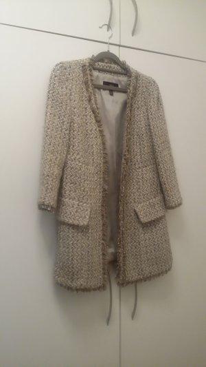 Mango Between-Seasons-Coat silver-colored wool