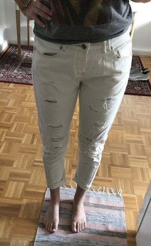 Mango Boyfriend Jeans, Used Look, ripped Jeans
