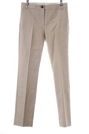 Mango Bundfaltenhose beige-dunkelbraun Business-Look