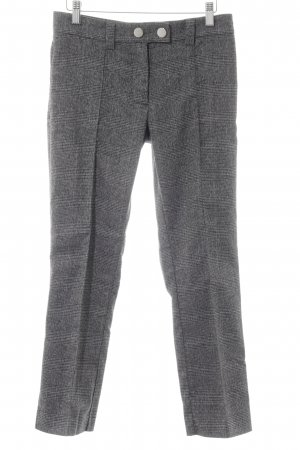Mango Pleated Trousers black-light grey glen check pattern business style