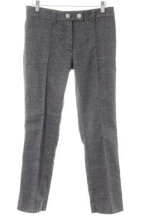 Mango Pantalon à pinces noir-gris clair motif Prince de Galles