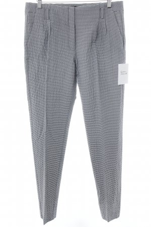 Mango Pleated Trousers white-dark blue striped pattern business style