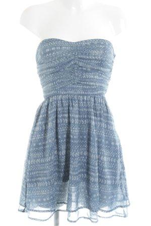 Mango Vestido bustier azul aciano look Street-Style