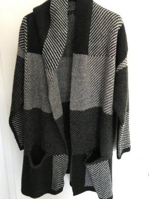 Mango Veste longue noir-gris