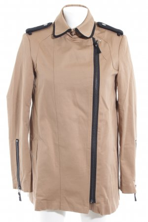 Mango Heavy Pea Coat beige-black casual look