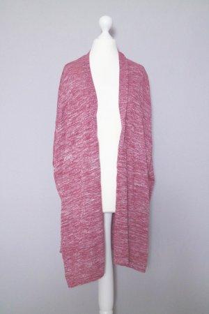 Mango Cardigan One Size Tunika-Style rot/rosé meliert