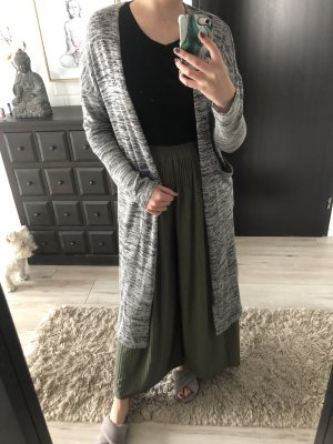 Mango Knitted Cardigan grey-light grey