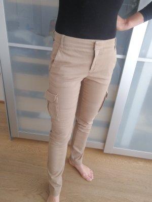 Mango Suit Pantalone cargo marrone chiaro