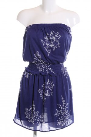 Mango casual Bandeau Dress blue-white allover print casual look