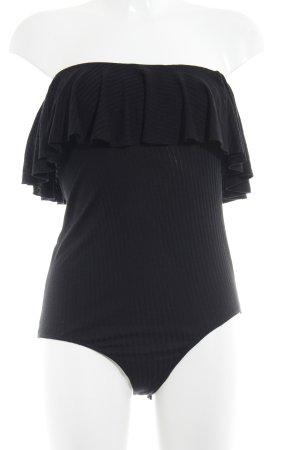 Mango casual Bodyblouse zwart gestreept patroon klassieke stijl