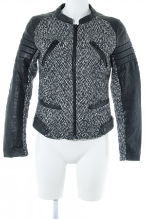 Mango casual Bomberjack donkerblauw-wolwit Materiaalmix-look