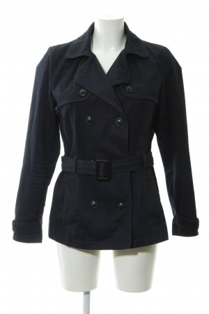 Mango casual Pea Jacket dark blue casual look
