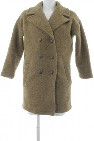 Mango casual Heavy Pea Coat olive green casual look