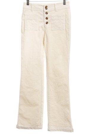 Mango casual Pantalone di velluto a coste crema stile casual