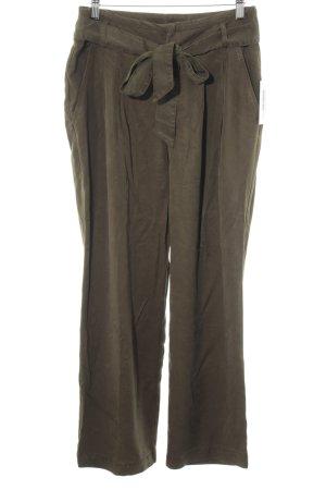 Mango casual Pantalone culotte verde scuro stile minimalista