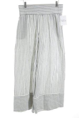 Mango casual Falda pantalón de pernera ancha blanco-azul estampado a rayas