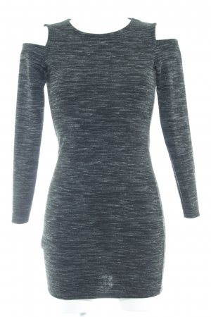 Mango casual Cut-Out-Kleid schwarz-weiß Inside-Out-Druck Casual-Look