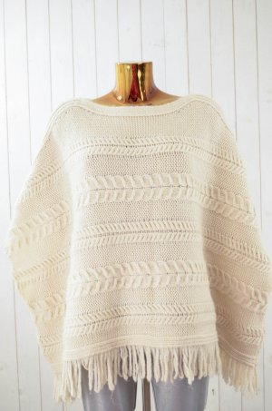 Mango casual Poncho natural white-cream