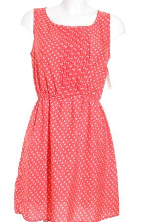 Mango casual Robe empire rouge-blanc cassé motif de tache style romantique