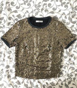 Mango Casual Glitter T-Shirt Größe S
