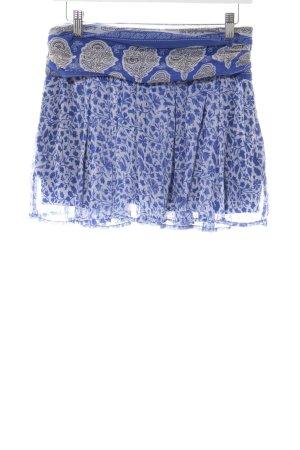 Mango casual Glockenrock weiß-blau abstraktes Muster Casual-Look