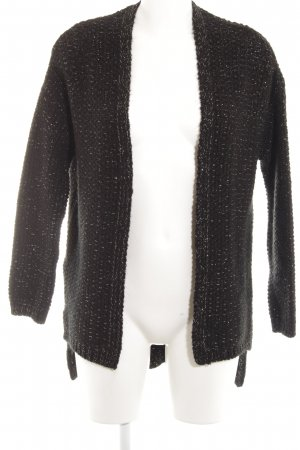 Mango casual Coarse Knitted Jacket black-gold-colored fluffy