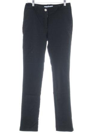 Mango casual Pantalon taille haute noir style décontracté