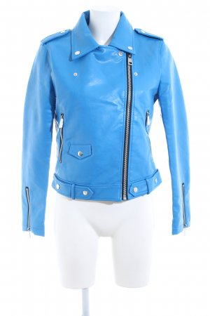 Mango casual Faux Leather Jacket blue casual look