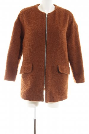 Mango casual Short Coat brown fluffy