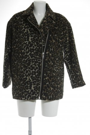 Mango casual Short Coat leopard pattern casual look
